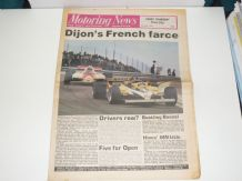 MOTORING NEWS 1981 July 9 French GP , Jim Clark Rally, Silverstone F3. Hillclimb